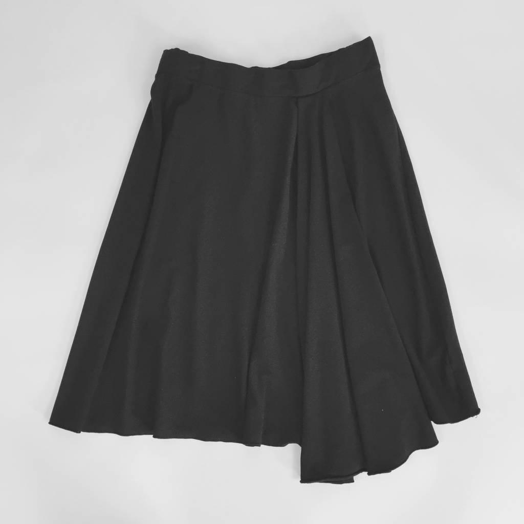Mod-O-Doc Black Knit Hi Lo Skirt
