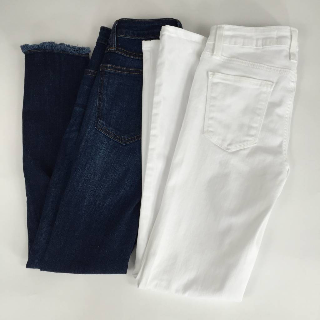 Just Black High Rise Super Skinny White Jean