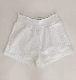 Paper Crane Smocked Waist Lace Short
