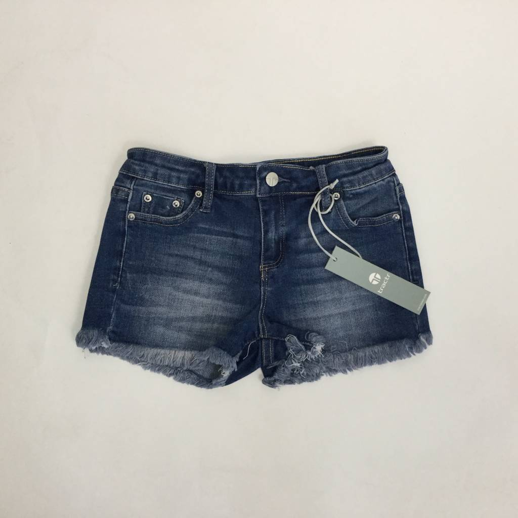 Tractr Girls Classic Denim Cutoff Short