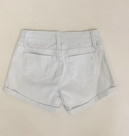 Tractr Girls White Jean Short