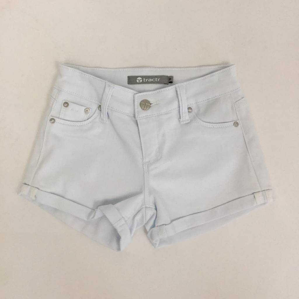 Tractr Girls White Jean Short