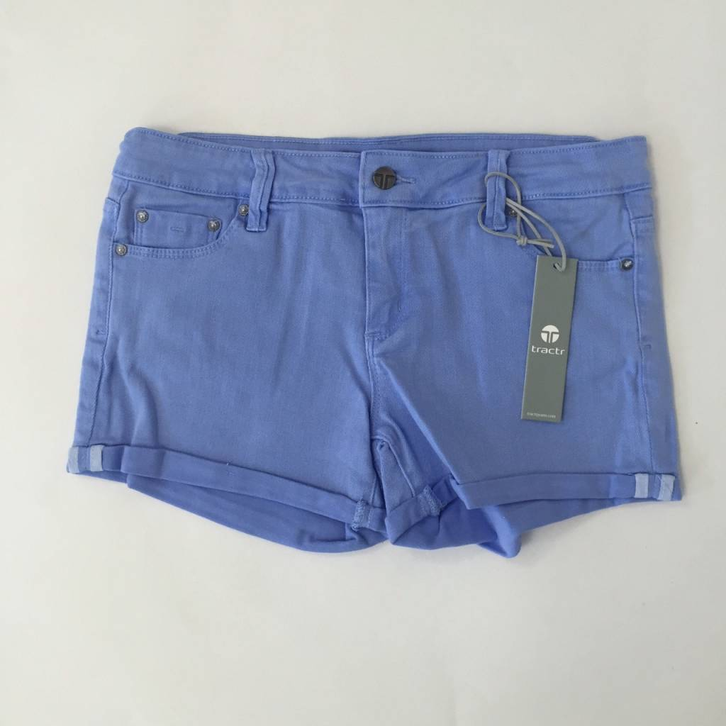 Tractr Girls TRACTR Jean Shorts in Hydrangea Blue