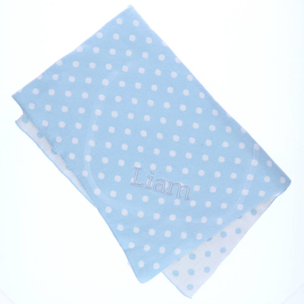 Dotted Baby Blanket Personalized