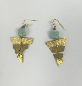 Nakamol WEXY5 Hammered Gold Earring