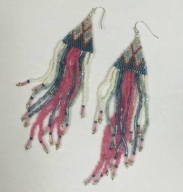 Nakamol WEXB75 Pink Beaded Fringe Earring