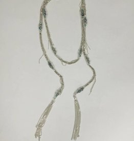Nakamol WNXD15 Silver Azure Lariat Necklace