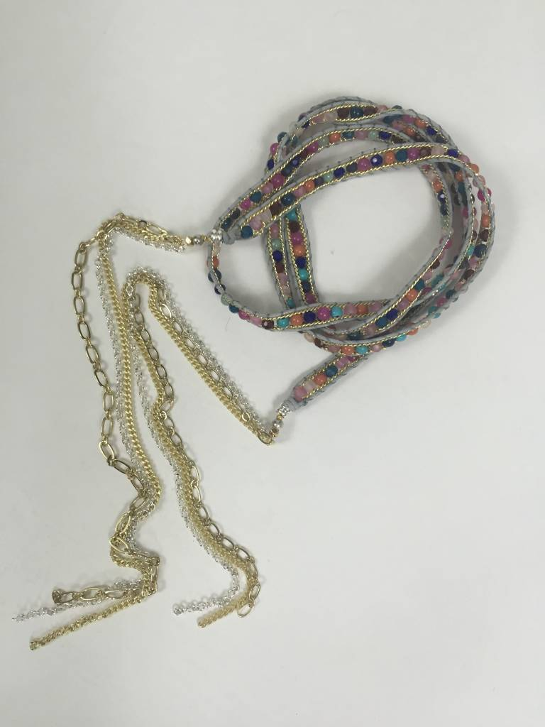 Nakamol CNXD152 Multi Colored Lariat Necklace
