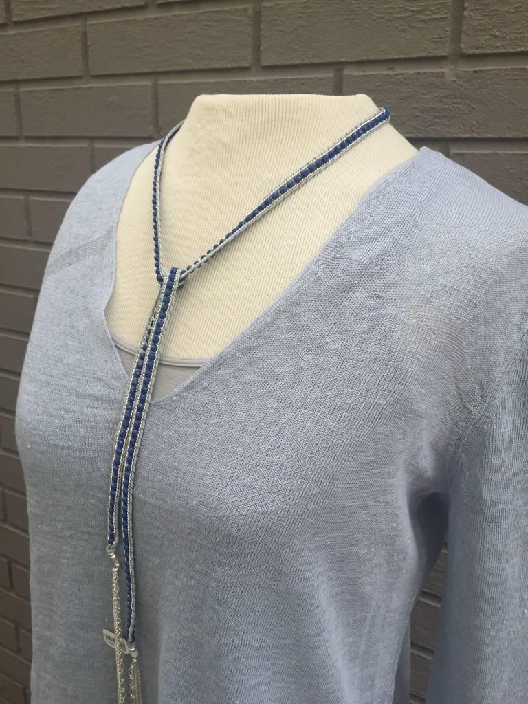 V-neck Linen Sweater
