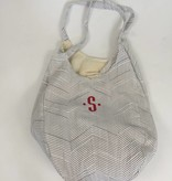 Heartstrings Hold Everything Canvas Hobo Bag Grey