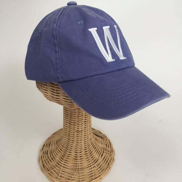 Blue Stonewash Baseball Hat Personalized with Zip Code