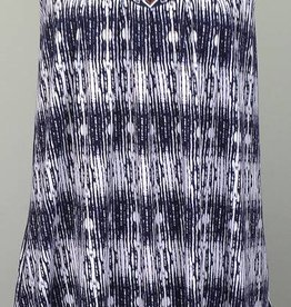 THML Sleeveless Knit Dress with Embroidered Yoke Navy