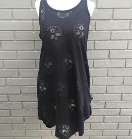 Terez Sugar Skull Black Burnout Dress