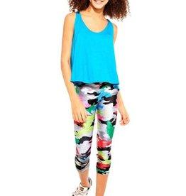 Terez GI Jane Multi Color Camo Capri Leggings