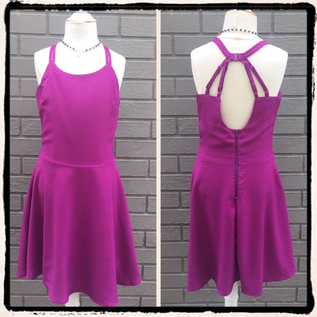 Miss Behave Sophia Plum Dress