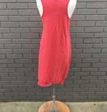 Dylan Red Hanky Hem Dress