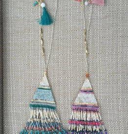 Nakamol CNXB46 Blue Pink Beaded Tassel Pendant
