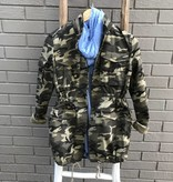 Tractr Ladies Camo Jacket Military Green