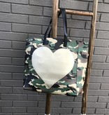 Ah Dorned Camo Tote with Gold Heart