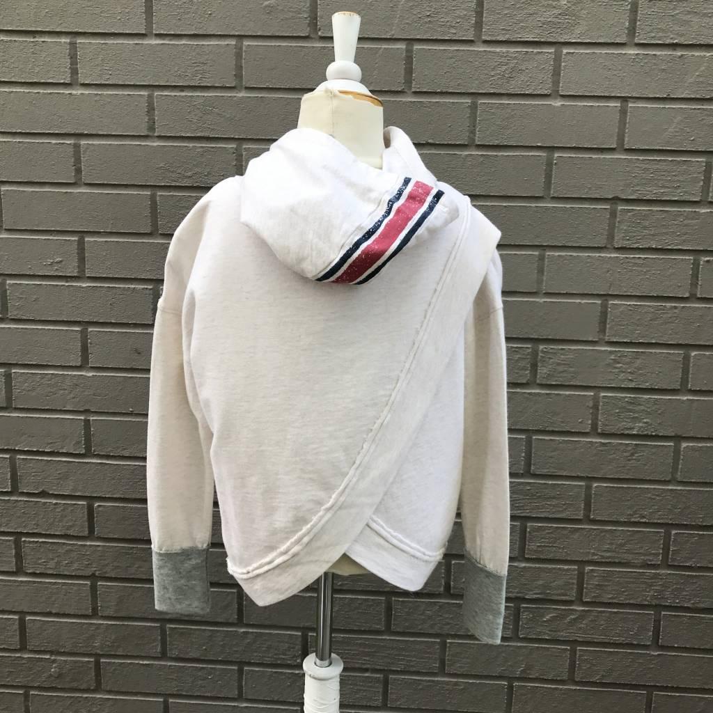 Splendid Speckle Hoodie Sweatshirt Oatmeal
