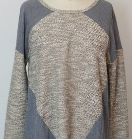 THML Grey and Cream Block Tunic