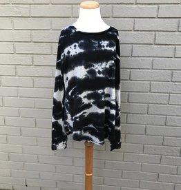 Erge Darkwater Crochet Back Top Black Grey #4056DWF