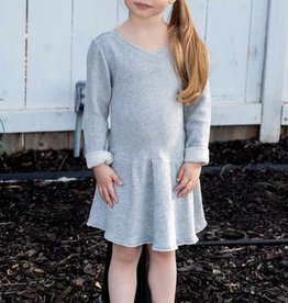 Ragdoll & Rockets Girls Medium Heather Grey Dress