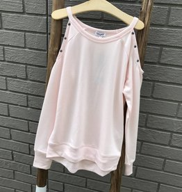 Splendid Grommot cold Shoulder Sweatshirt Girl Pink
