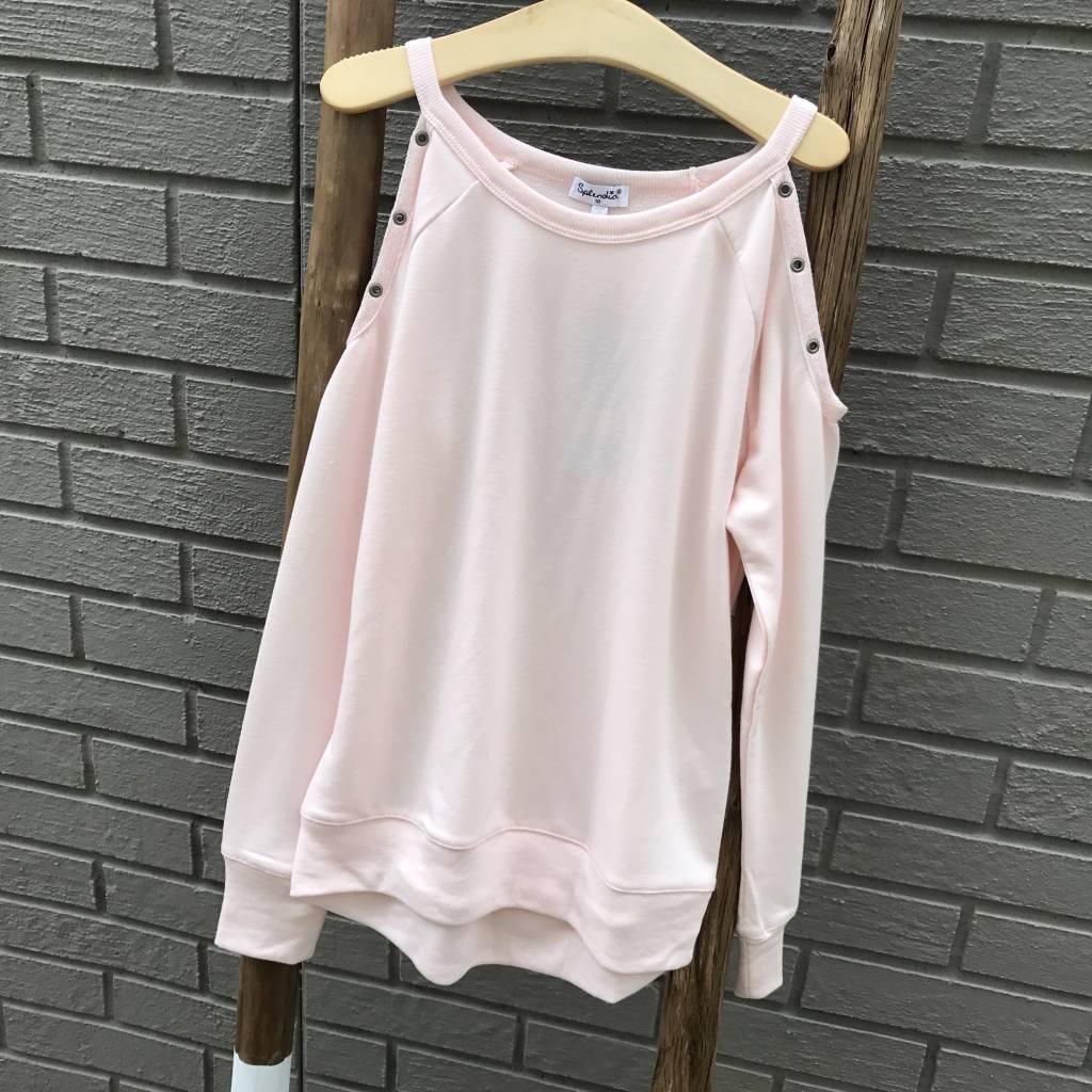 Splendid Grommot cold Shoulder Sweatshirt Girl Pink