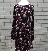 Ella Moss Priscilla Print Velour Dress Ella Moss