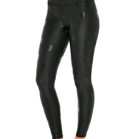 Terez Foil Skull Legging Black Wide Waistband