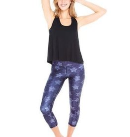 Terez Navy Star Performance Capri Wide Band