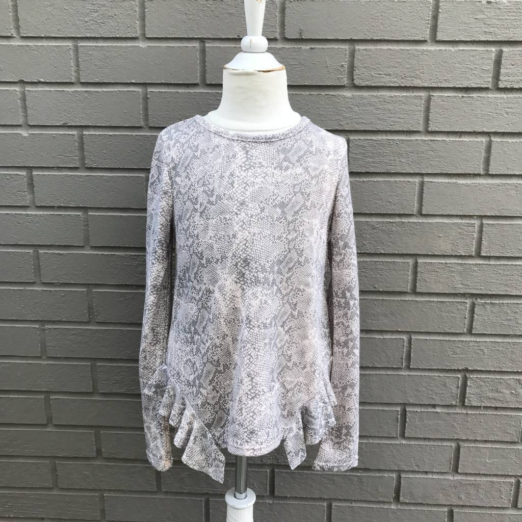 Splendid Python Print Loose Knit Top Pink