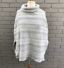 Dylan Sweater Poncho Heather Natural