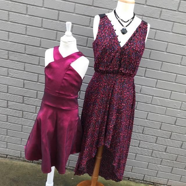 Adelyn Rae Eliza Woven Print Hi Lo Wrap Dress