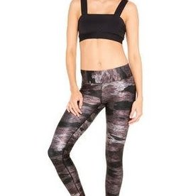 Terez Wide Waistband Rosy Camo Leggings