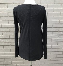 Michelle by Comune Inverness Black Asym Long Top