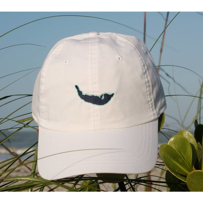 Map Hat in white