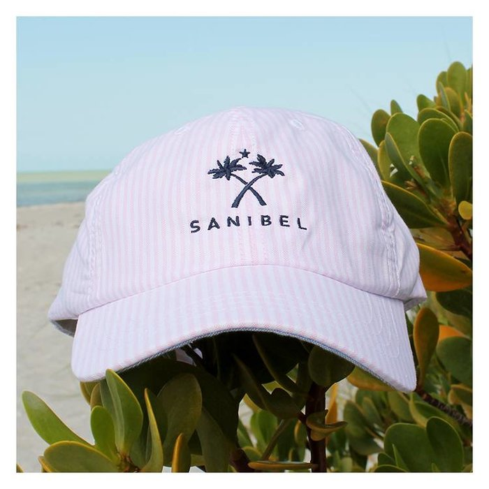On Island Pink Seersucker Hat