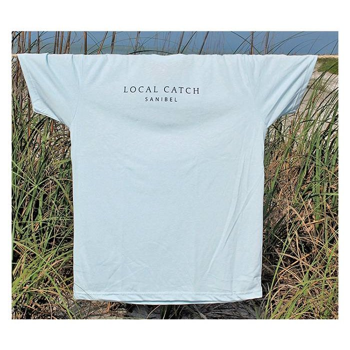 Men's Local Catch T-Shirt in Light Blue