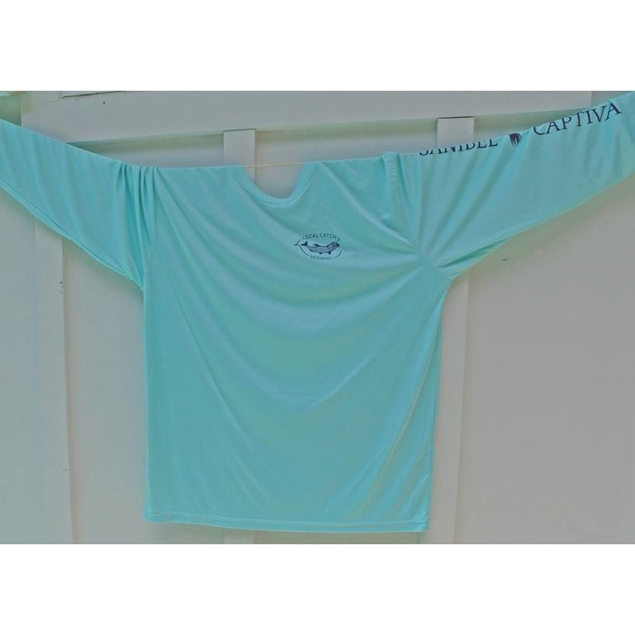 Hooked SPF Performance/Fishing Shirt in Mint Green