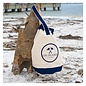On Island Canvas Sling Tote in Navy and Natural