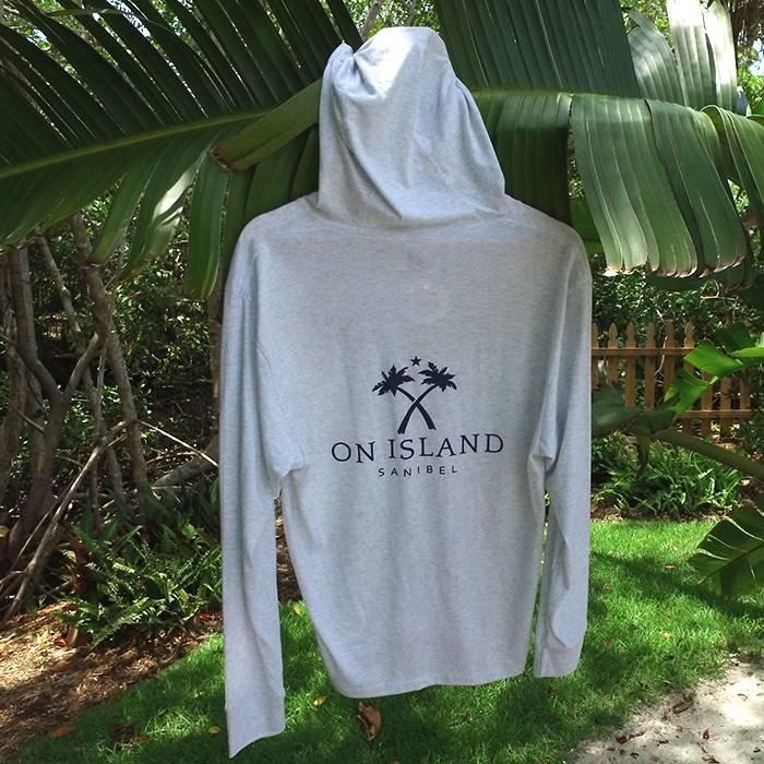 On Island Heathered White Hoodie