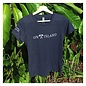 Ladies Sanibel and Captiva Navy Map Semi-Fitted Tee