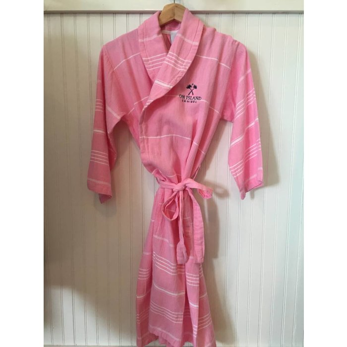 Pink Turkish Linen Robe
