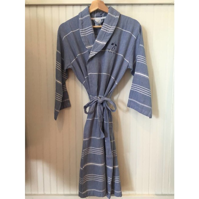 Blue Turkish Linen Robe