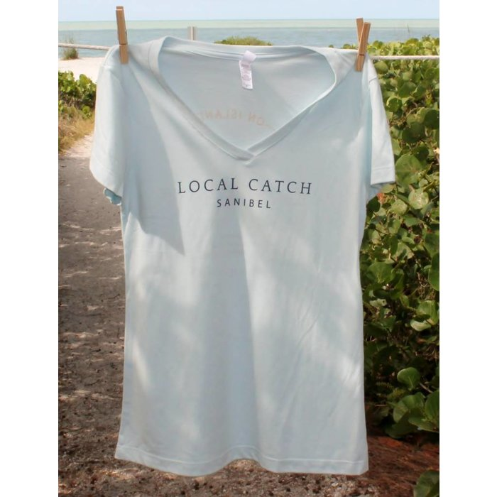 Local Catch Ladies Light Blue Semi-Fitted Tee