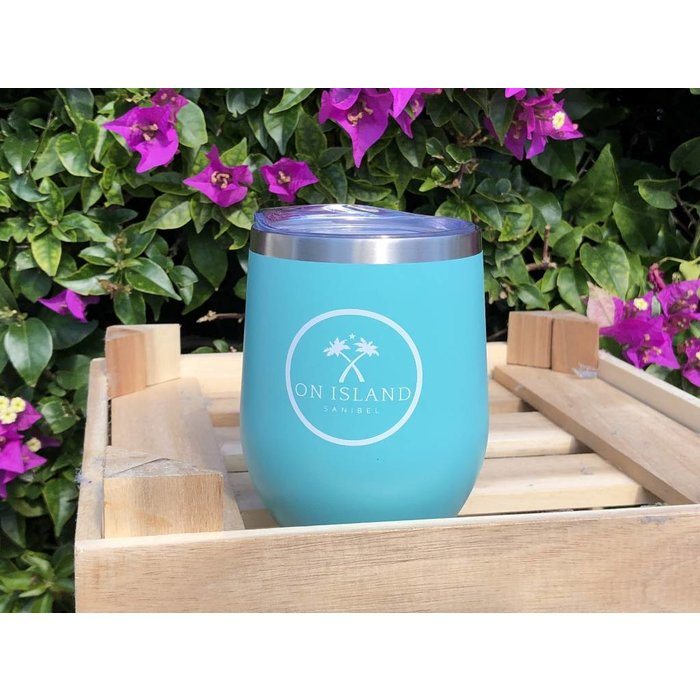 Insulated Logo Wine Cup in Turquoise