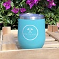 Insulated Logo Wine Cup with lid in Turquoise