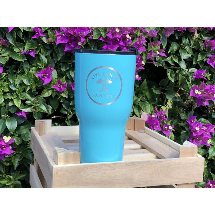 RTIC 30oz Live Sunny Tumbler in Turquoise